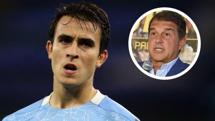 Eric Garcia, Joan Laporta, Manchester City, Barcelona