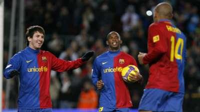 Lionel Messi Samuel Eto'o Thierry Henry Barcelona