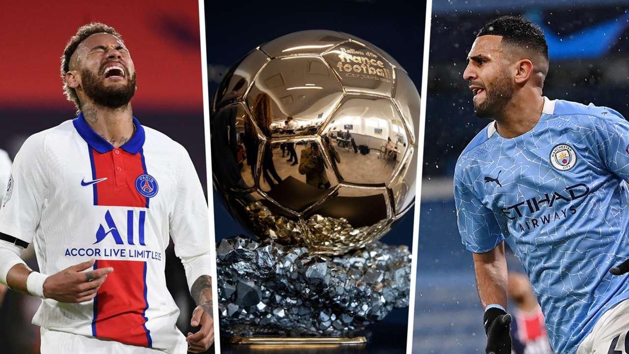 Neymar Mahrez Ballon d'Or GFX