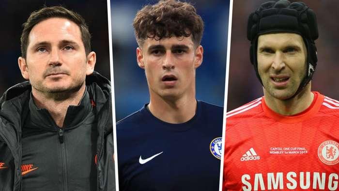 Frank Lampard, Kepa, Petr Cech, Chelsea