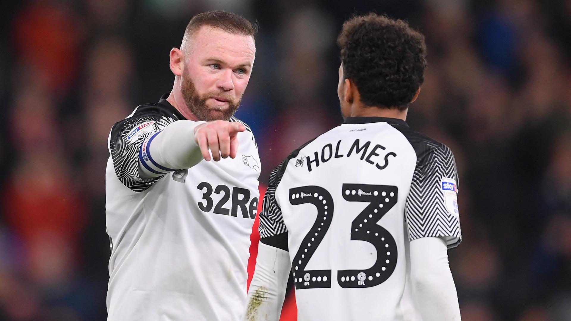 Wayne Rooney Duane Holmes Derby County 2019-20