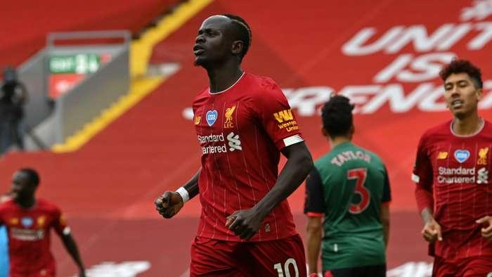 Sadio Mane Liverpool vs Aston Villa Premier League 2019-20