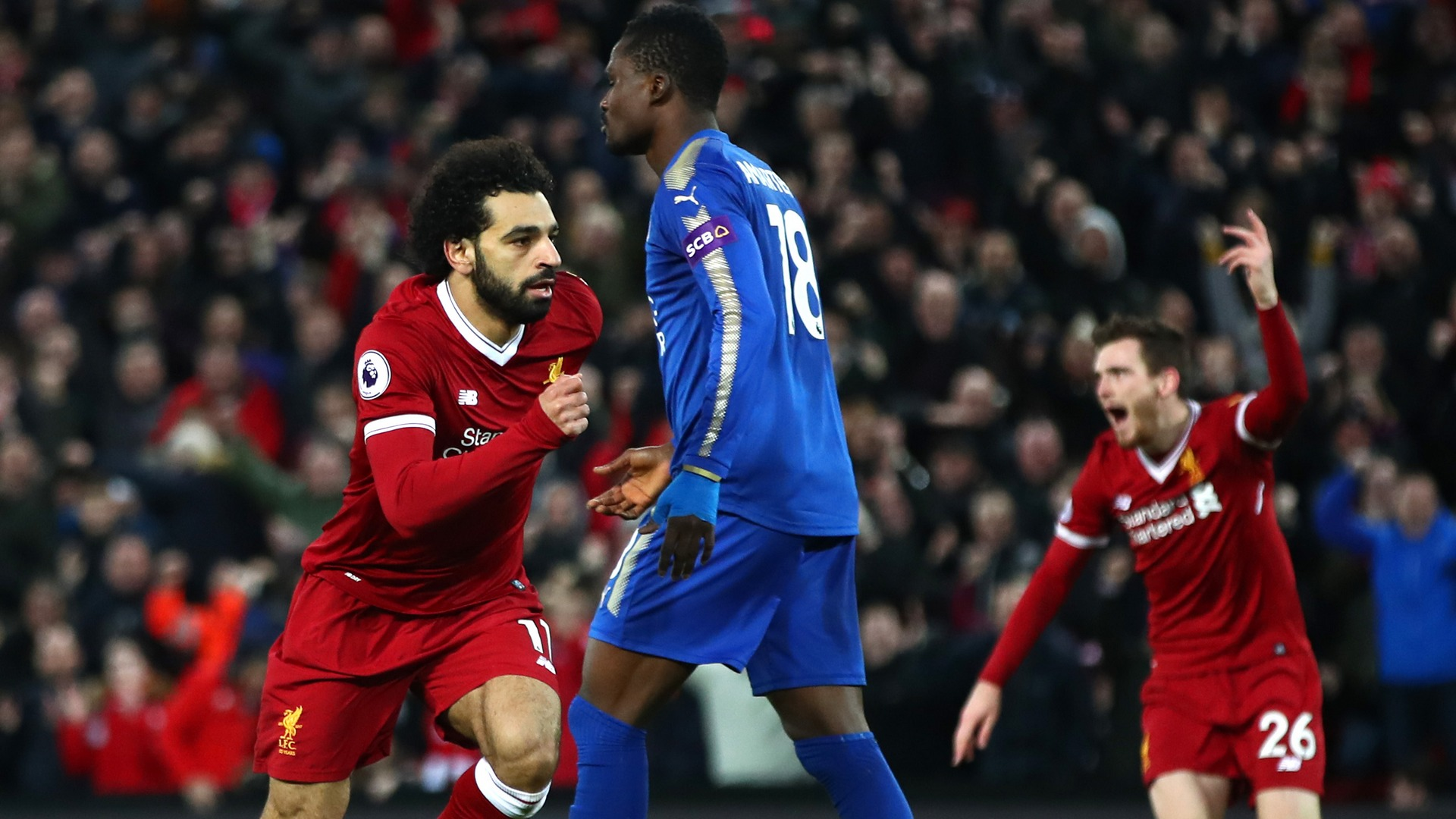Mohamed Salah Liverpool Leicester City EPL 12302017