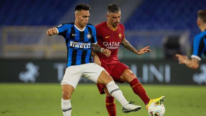 Lautaro Martinez Aleksander Kolarov Roma Inter Serie A