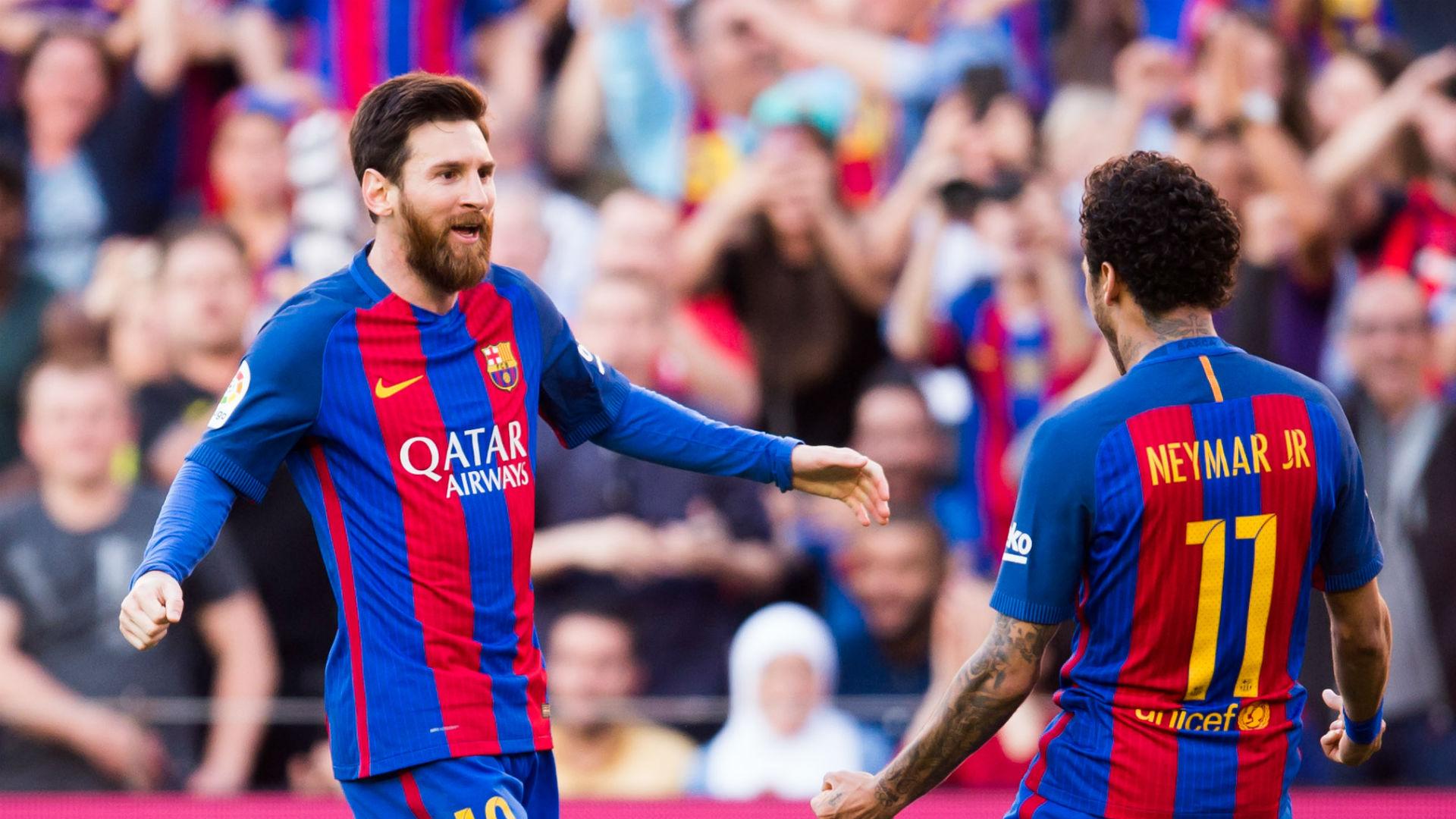 Lionel Messi Neymar Barcelona La Liga 050617
