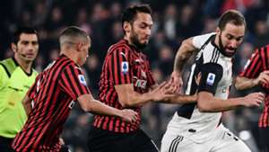 Bennacer Calhanoglu Juventus Milan