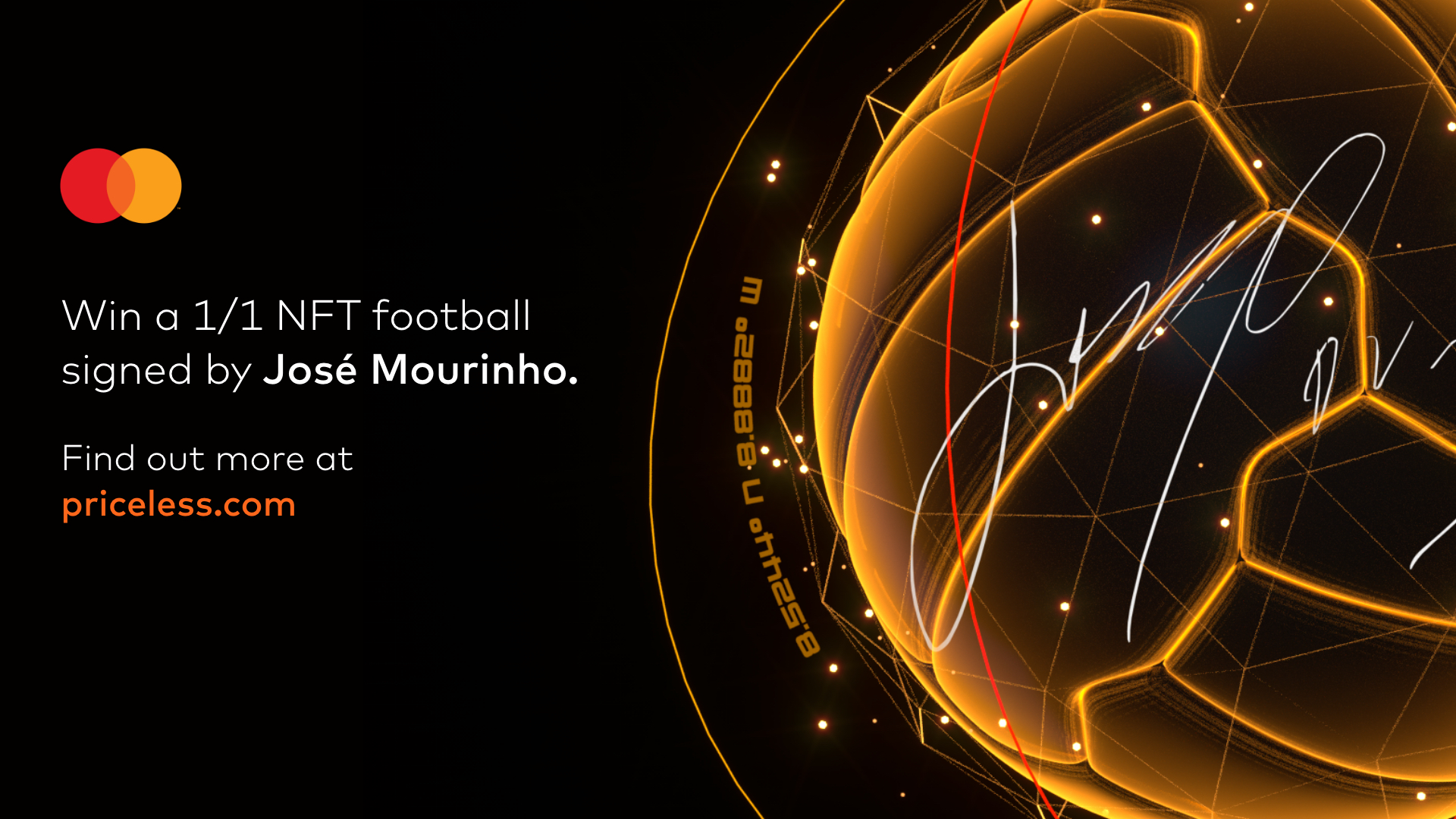 Win a Jose Mourinho NFT created by Mastercard… with a priceless surprise inside