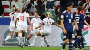 England celebrating Women's World Cup