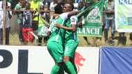 Gor Mahia striker Jacques Tuyisenge v George Odhiambo.