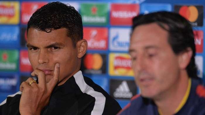 Thiago Silva Unai Emery PSG