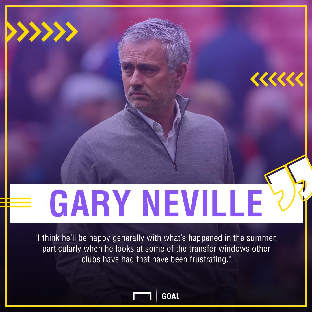 Gary Neville Jose Mourinho window 2017