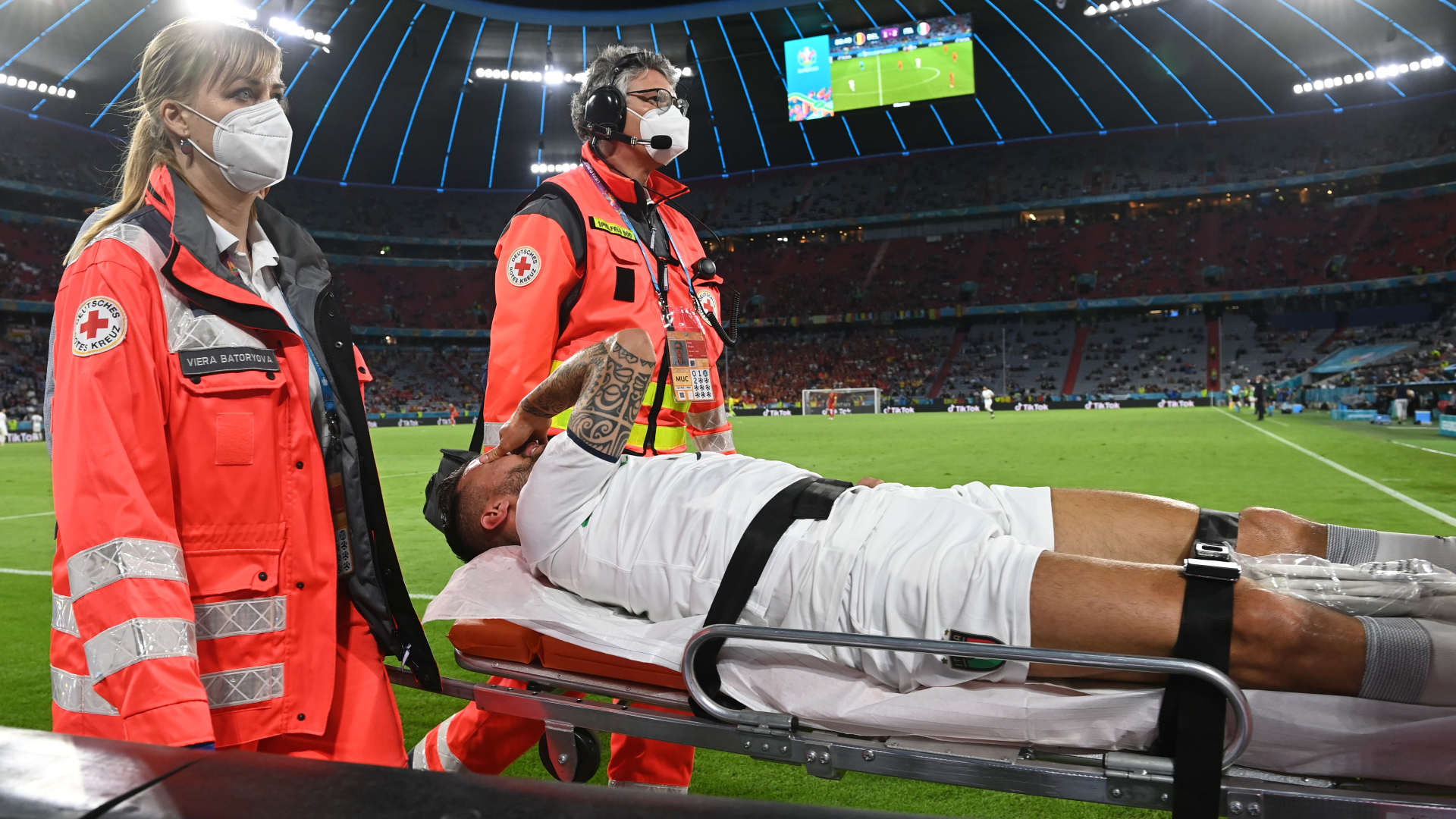 Spinazzola injury blow as Italy star wing-back exits on stretcher vs Belgium