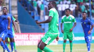 Humphrey Mieno misses penalty for Gor Mahia.