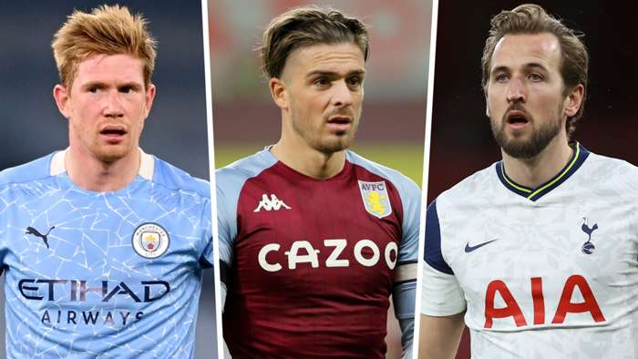 Kevin De Bruyne Jack Grealish Harry Kane