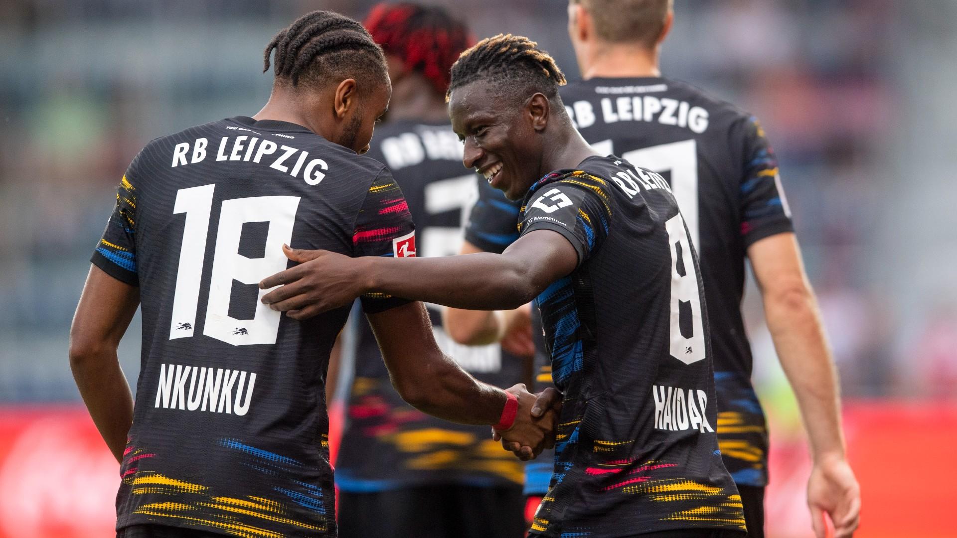 Haidara and Nkunku propel RB Leipzig past Sandhausen