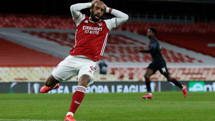 Alexandre Lacazette Arsenal Slavia Europa League 2020-21