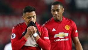Alexis Sanchez Anthony Martial Man Utd 2018-19