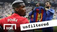 Paul Pogba Lionel Messi GFX