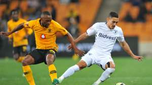 Cole Alexander of Bidvest Wits is challenged by Bernard Parker of Kaizer Chiefs, August 2018