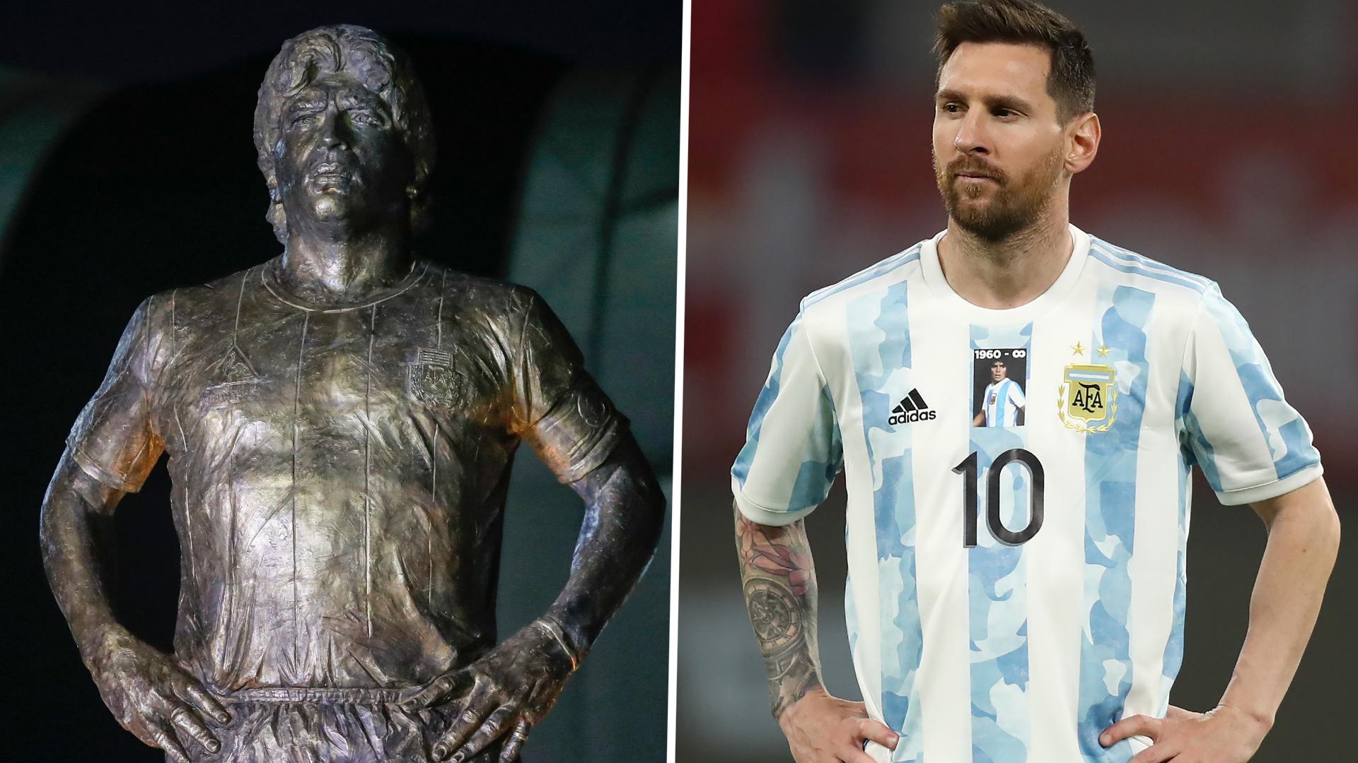 Lionel Messi five goals short of Diego Maradona's free-kick record