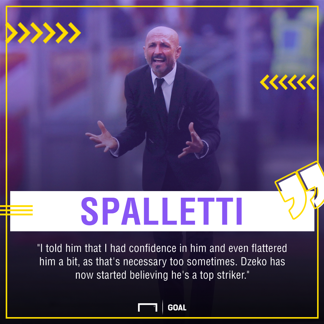 Luciano Spalletti Edin Dzeko Roma PS
