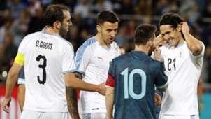 Edinson Cavani Lionel Messi Uruguay Argentina 2019
