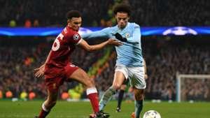 Trent Alexander-Arnold, Leroy Sane, Man City v Liverpool, Champions League, 17/18