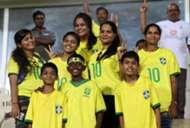 Brazil U17 fans in Goa