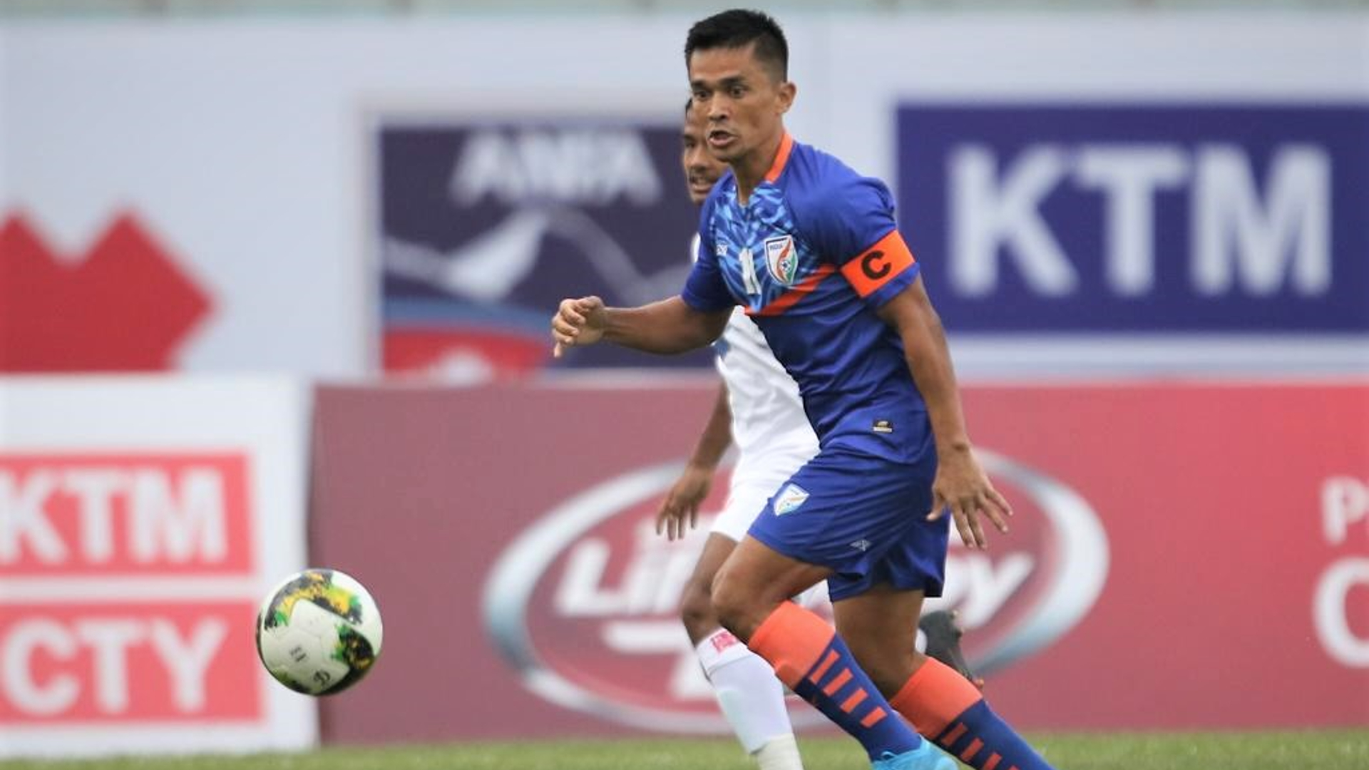 When was the last time Sunil Chhetri wasn't the Indian top scorer in an international tournament?
