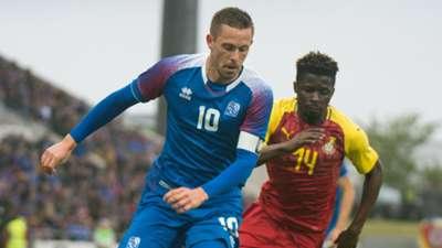 Gylfi Sigurdsson Nana Ampomah Iceland Ghana international friendly 2018