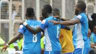 3SC players celebrates Abayomi Adebayo's goal vs Enyimba