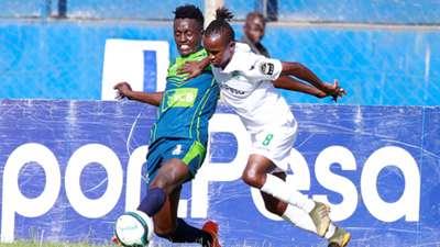Dennis Nganga of KCB v Francis Kahata of Gor Mahia.
