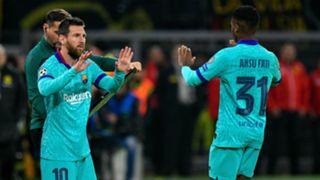 Lionel Messi Ansu Fati Barcelona 2019-20