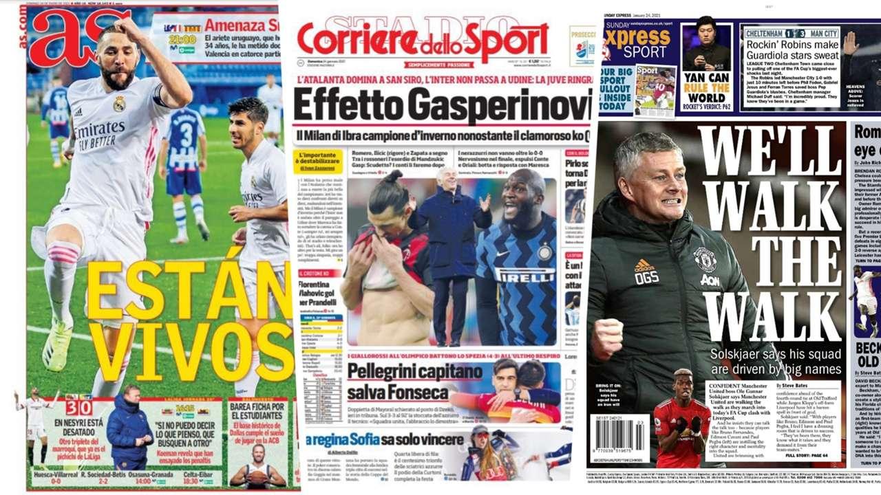 24 Jan newspapers
