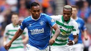 Alfredo Morelos, Boli Bolingoli, Rangers vs Celtic 2019-20