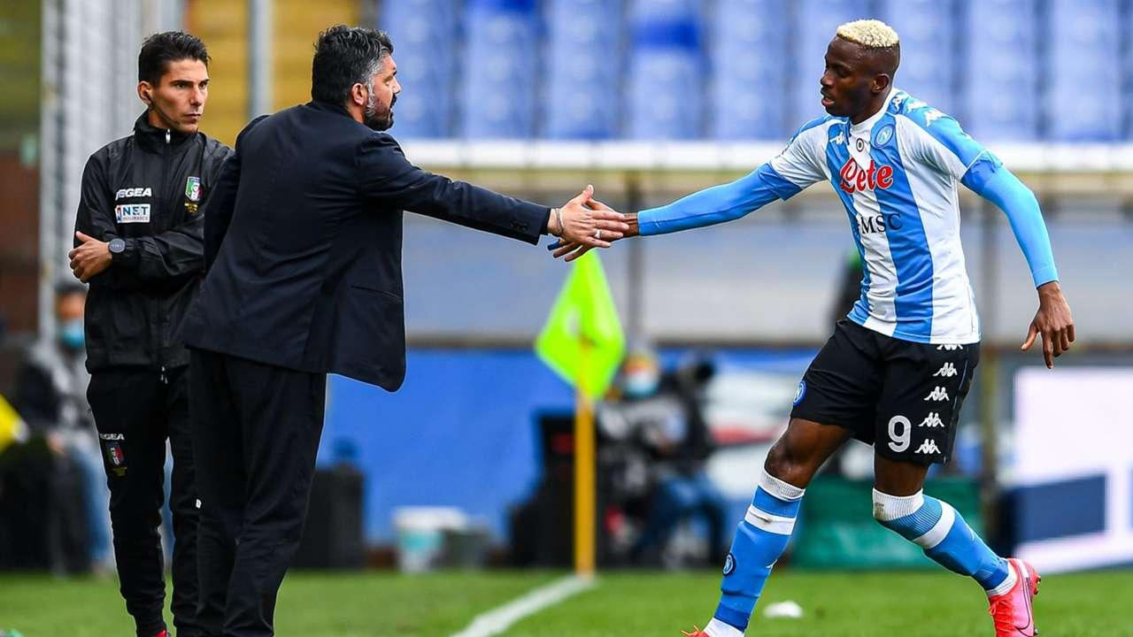 Victor Osimhen Sampdoria Napoli Serie A