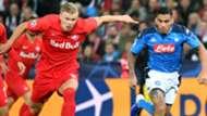 Haland Allan Salzburg Napoli Champions League