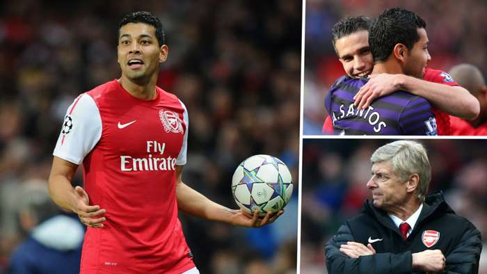 Andre Santos Arsene Wenger Robin van Persie Arsenal GFX