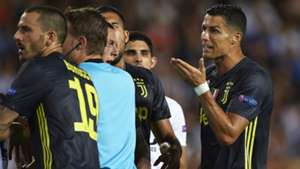 Cristianl Ronaldo Juventus red card vs Valencia 2018