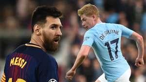 Messi, De Bruyne and the European Team of the Season