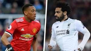 Anthony Martial Mohamed Salah split