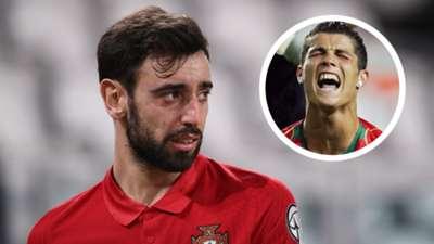 Bruno Fernandes Cristiano Ronaldo Portugal GFX