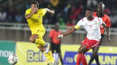 Victor Wanyama of Kenya and Harambee Stars vs Matthiue Gangni of Togo.