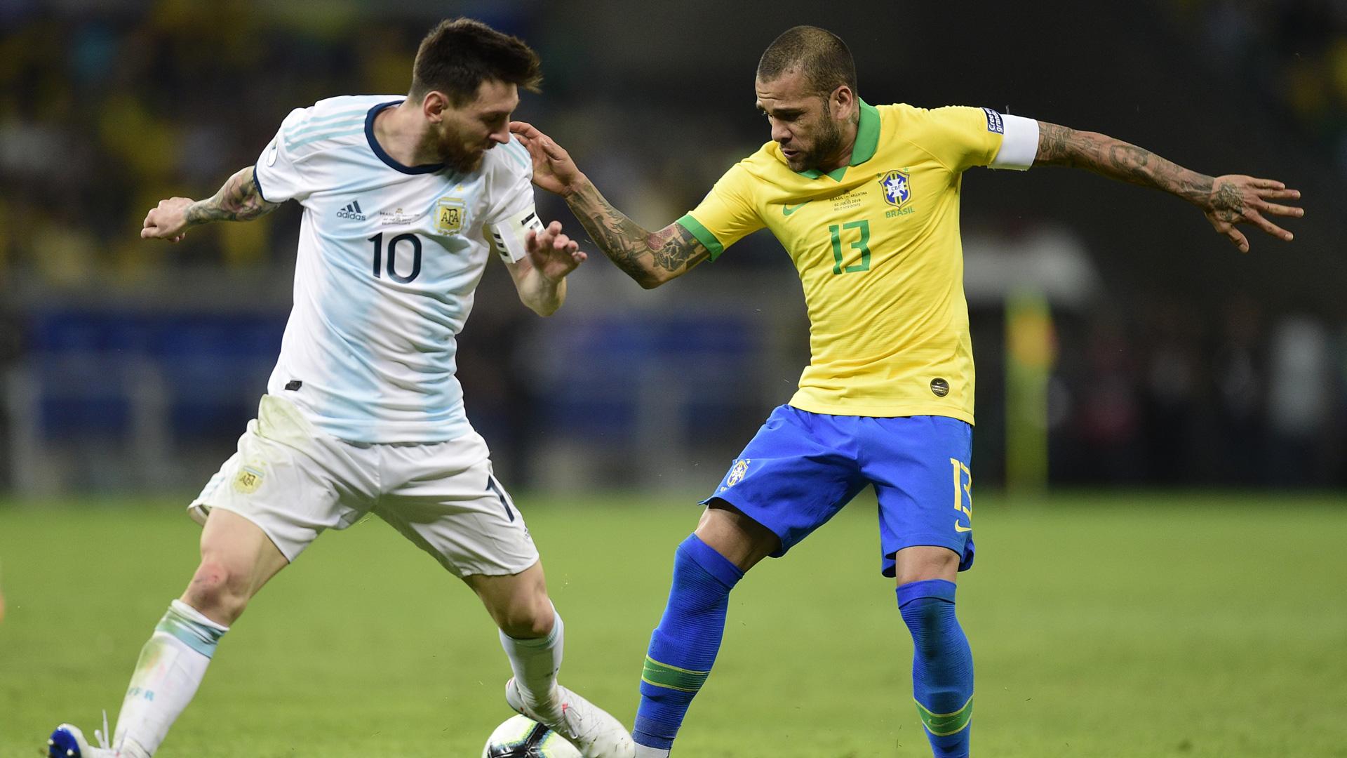 Lionel Messi Argentina Dani Alves Brazil