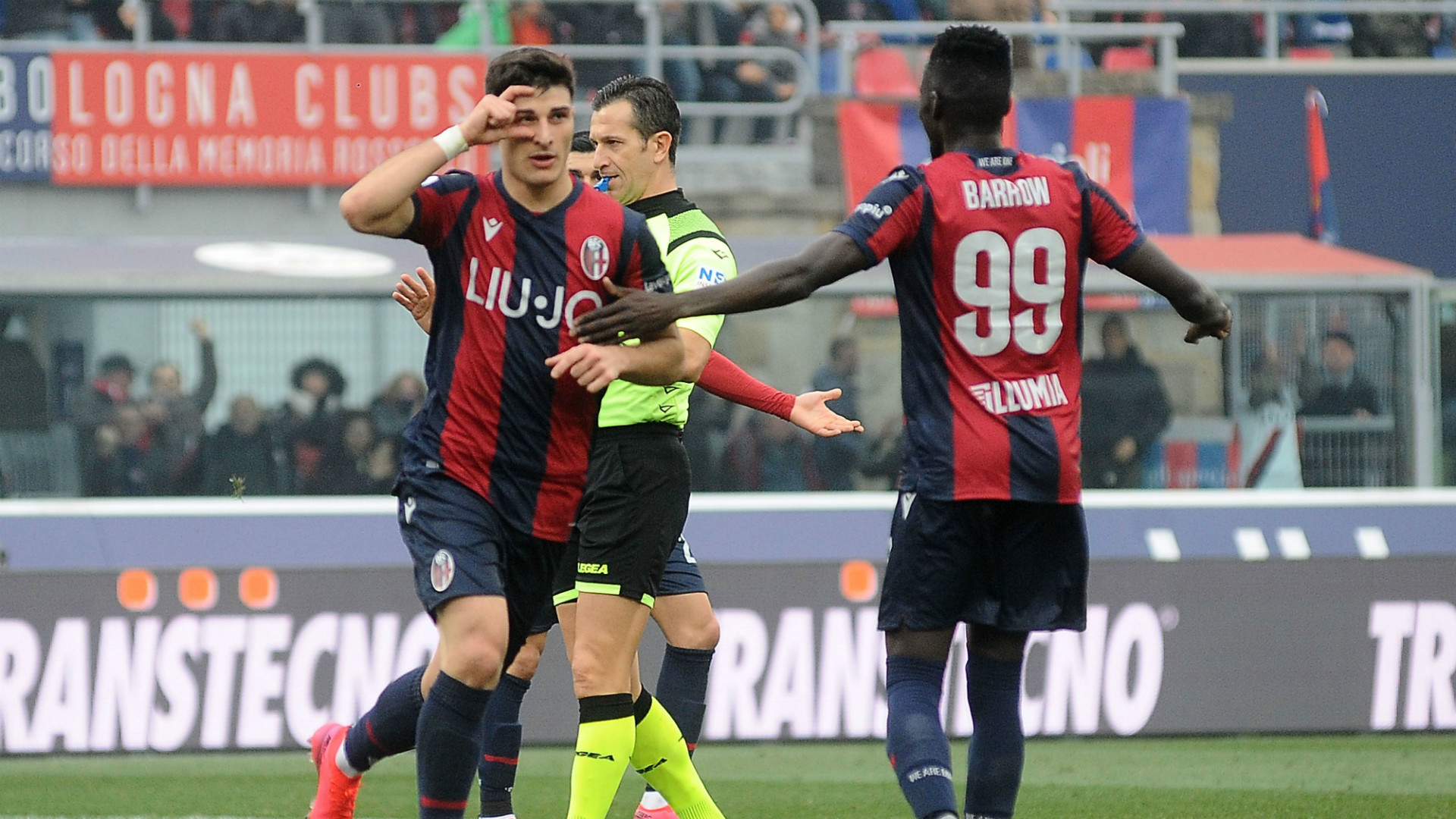 Barrow double inspires Bologna past Gervinho's Parma