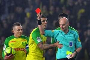 Tony Chapron Diego Carlos Nantes PSG Ligue 1 14012018