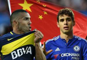 Carlos Tevez Oscar China composite