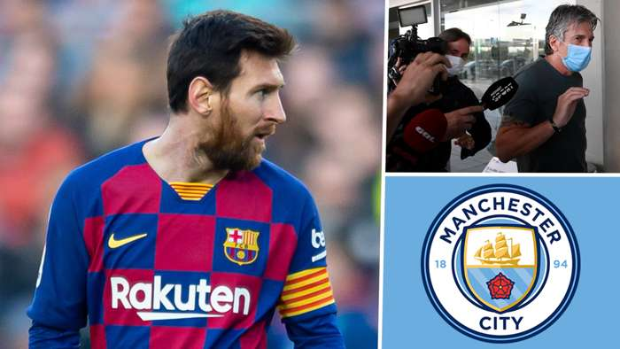 Lionel Messi Barcelona Man City Jorge Messi