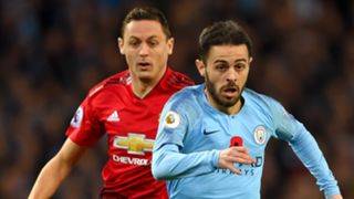 Bernardo Silva Nemanja Matic Manchester City vs Manchester United 2018-19