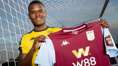 Mbwana Samatta of Tanzania signs for Aston Villa.